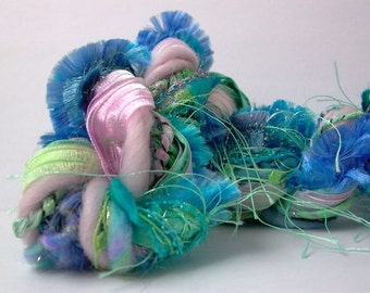 monet dream weaver effects™ 30yd art yarn fiber bundle yarn pack mixed media fibers textile craft kit luxury ribbons wools sari silk