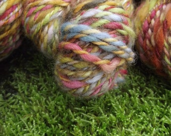 Handspun yarn, Handpainted wool Yarn thick and thin multiple skeins available-PAINTER'S DAUGHTERS
