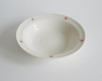 Porcelain Lotus Bowl Dish - Handmade Lotus Bowl - White Ceramic Bowl - Mothers Day Gift