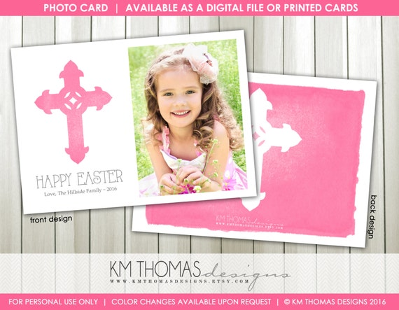 easter printable photo card personalized photo easter card