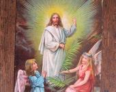 Antique Postcard.Religious.Maria,baby Jesus, Angels. 1908