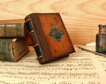 Miniature Book or Journal with Vintage Leather, My Secret Life