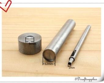 12mm flat cap iron & copper rivet setter hand rivet setter tool S71