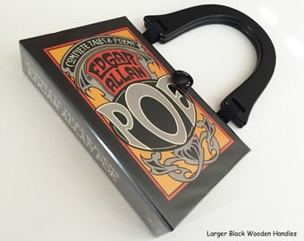 Edgar Allan Poe Recycled Book Purse - Tales of Poe Book Clutch - Gothic Gift - Poe Collector Gift - Bookish Fashion - Poe Top Handle Bag