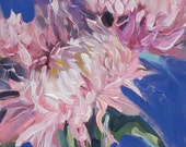Chrysanthemum--oil painting--floral--abstract realism--impressionism