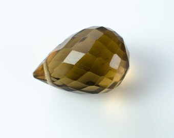 Beer Quartz Faceted Teardrop Briolette