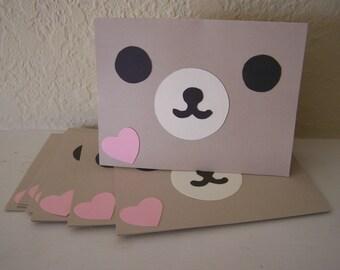 cutie bear face card set