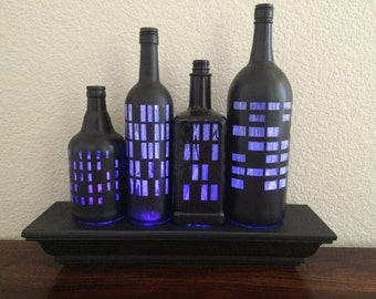 Gotham: Bottle city lighted display
