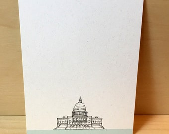 Washington DC Stationery - set of 12 noteflat cards