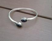 Price Break Vintage Sterling Amethyst Cuff Bracelet
