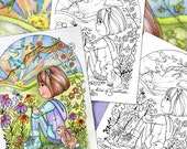 Coloring Book Pages Digital Download Colored Pencils Jel Pens You Print Your Quality Papers