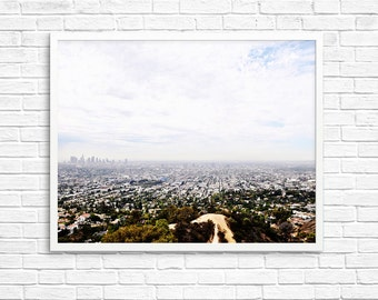 BUY 2 GET 1 FREE Los Angeles City Photography, Landscape Photo, Downtown Los Angeles, Griffith Observatory, Home Decor - La City View
