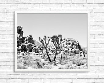 BUY 2 GET 1 FREE California Photography, Joshua Tree Photograph, Desert Photo, Brown Tone, Yucca Tree, Home Decor - Desert Exploring