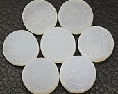 White Druzy Cabochons 16mm natural gemstone cabochon one piece