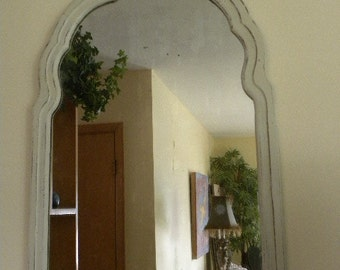 Antique Shabby Mirror Painted Cottage Chic