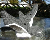 Child's Crochet Biting Shark Slippers.  Custom Order Any Color and Size.