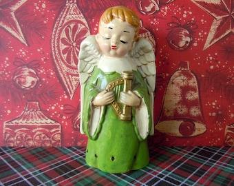 Vintage Christmas Angel Decoration Fragrance Sachet Little Boy Figurine