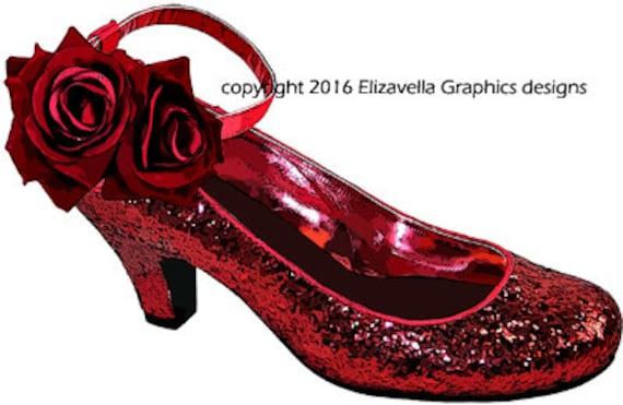 red glitter high heel shoe clip art png clipart printable art digital graphics download images shoe clipart red rose shoe fashion printables