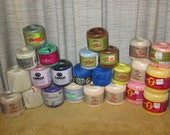 24--Ball Skeins--CROCHET Thread--All Unused--Assorted Colors--Assorted Brands
