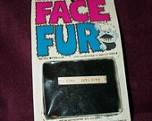 1972--FACE FUR Kit--Halloween Disguise--Do-It-Yourself Kit--Black Mustache--Unused--Sealed Package--NOS--Rare--Imagineering