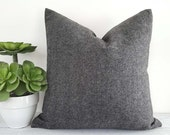 Grey Herringbone Pillow Covers, Grey Tweed Pillow, Wool Textured Pillows, Man Cave Pillows, Mens Throw Pillows, Lumbar 12x20, 18x18, 20x20