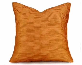 Solid Orange Pillow Covers, Orange Textured Pillow, Halloween Pillows, Fall Harvest Decor, Pumpkin Orange Cushion Cover, 18x18, 20x20, 26x26