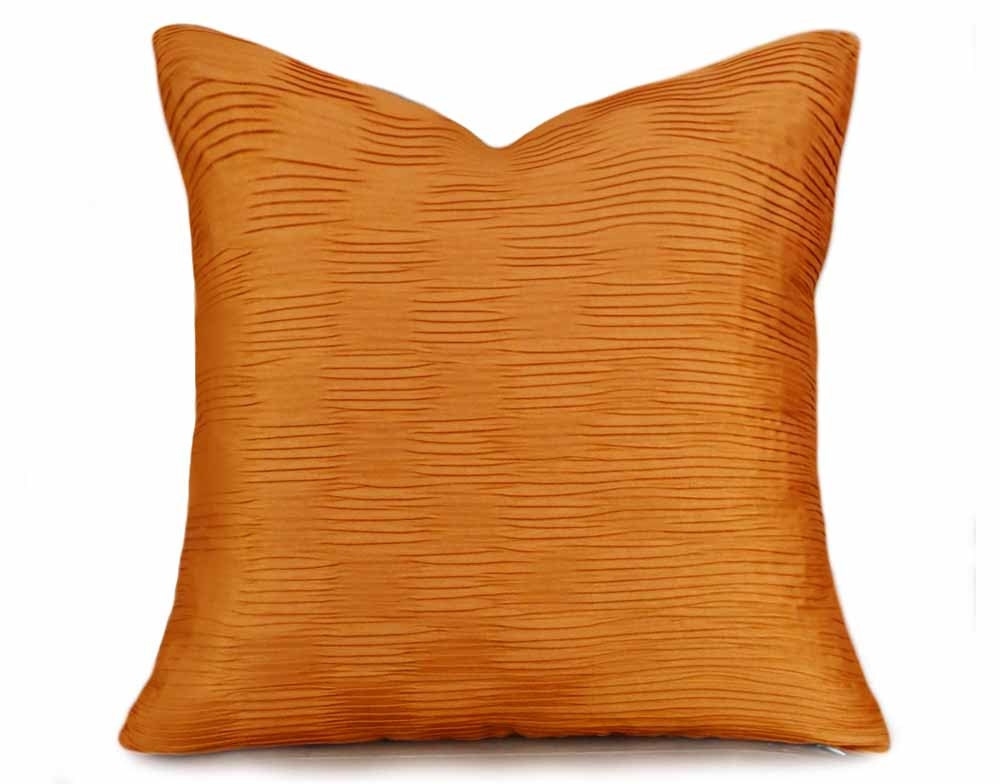 Orange Throw Pillow Solid Orange Pillow Covers Orange Couch