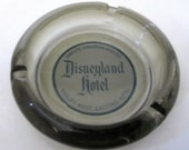 DISNEYLAND Hotel Walt Disney World Glass Coaster Pin Dish Bowl Souvenir Magic Kingdom Heavy Ashtray 1960s Paperweight