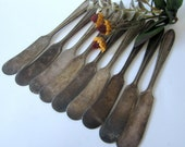 Silver Plate Viceroy Plate Flame Pattern USA Flat Butter Knife Cheese Spreader