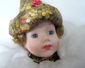 """Music Box Limited Edition Porcelain Doll Porcelain Doll Moble Arts Original Vintage Collectible 17"""" Hello Dolly Song"""