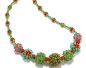 Embellished Plum Blossom Beaded Bead Necklace Kit, Spice Island