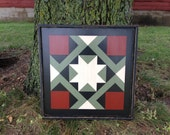 PRiMiTiVe Hand-Painted Barn Quilt - 3' x 3' Magic Carpet Pattern