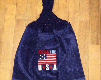 Bless The USA Kitchen Towel - Independence Picnic Camping Grilling BBQ