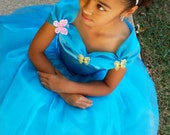 Cinderella Inspired Blue, Princess Dress, Gown for girl