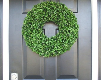FALL WREATH SALE Faux Boxwood Wreaths- Boxwood Decor- Year Round Wreaths- Spring Wreath Decor- Wall Art- Sizes 16-26 inches