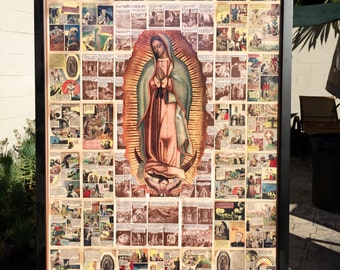 "50% OFF - Stunning GUADALUPE Tilma and Historical Religious Comic 20 x 30"" Photo Fine Art Print by MARIPOSAFUERTE"