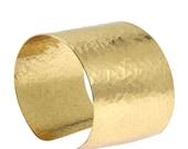 Hammered Gold Cuff Bracelet,  Wide Gold Cuff, Statement Gold Cuff, Gold Cuffs, Hammered Gold Bracelets, Handmade Gold Jewelry, John S Brana