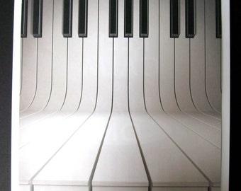 Play It Again ..Magnet Dry Erase Memo Board / housewarming gift / piano /office decor /desk / organization / wall hanging /desk / ivory keys