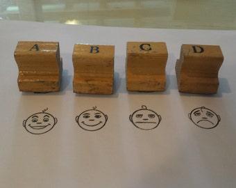 Letter Grade Teacher's Rubber Stamps