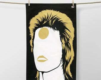 Bowie Gold 100% Cotton tea towel