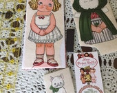 Sweet fabric blonde PAPER DOLL KiT no-sew ~ ALL Supplies Included to Make ~ Easy!