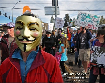 WE Are The 99%, Occupy Wall Street, Bend, Oregon, Clyde Keller Photo, Fine Art Print, Color, Signed