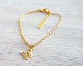 Sale 20% OFF Tiny Initial Bracelet, personalized bracelet, minimalist charm jewelry, girls children kids jewelry