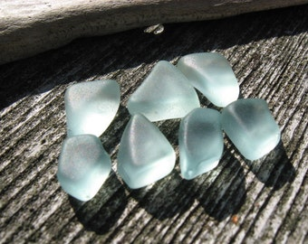 SALE BLUE Beach Glass Sea Glass Cubes