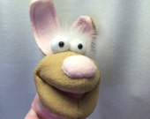 Gigi - Bunny in a Sweater Hand Puppet - #001 (moving mouth)