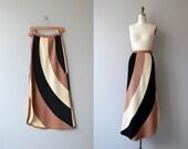 Zephyr Wool maxi skirt   vintage 70s maxi skirt   wool knit 70s skirt