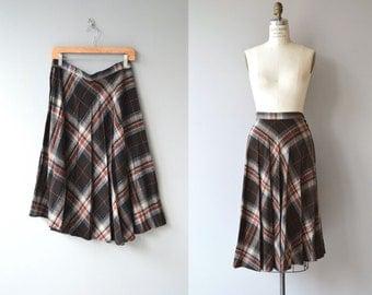 Campus Plaid skirt | vintage 1970s skirt | plaid 70s skirt