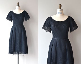 Harvey Berin dress | vintage 1950s dress | black 50s dress