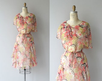 Arts Floridants dress | vintage 1920s dress | silk floral 20s dress