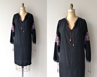 Donka Horo dress | vintage 1920s dress | silk 20s folk dress